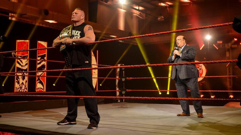 Coronavirus COVID-19 Brock Lesnar Paul Heyman WrestleMania 36