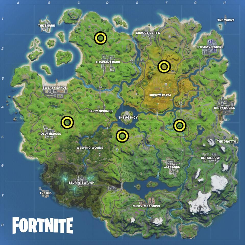 Honey Pot locations Fortnite