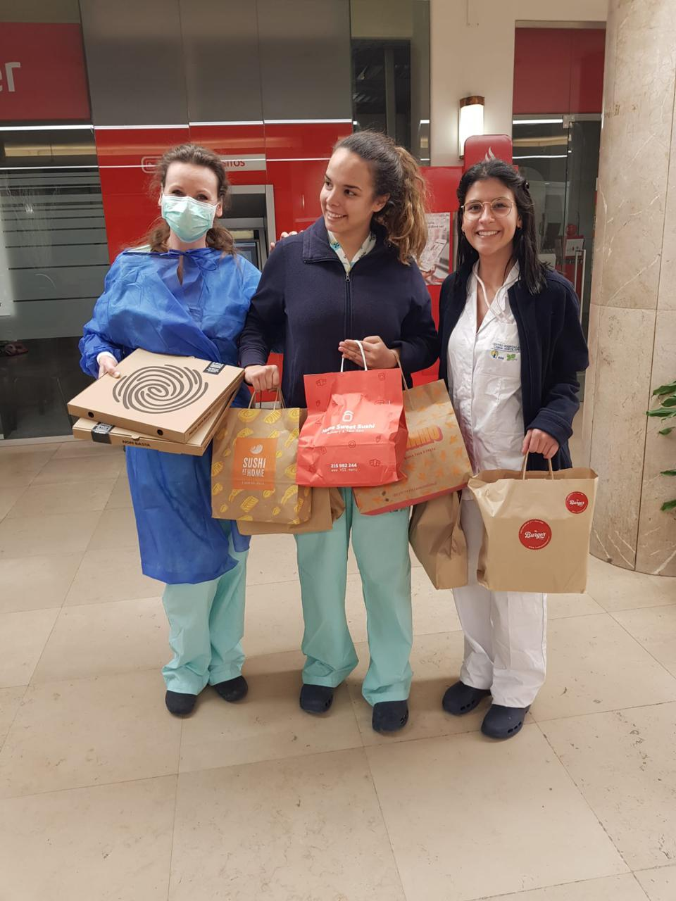 doctors with delivery