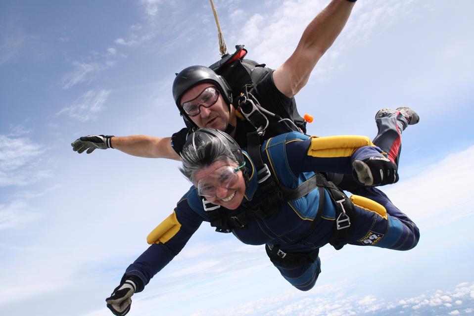 Skydiving travel books women adventurers