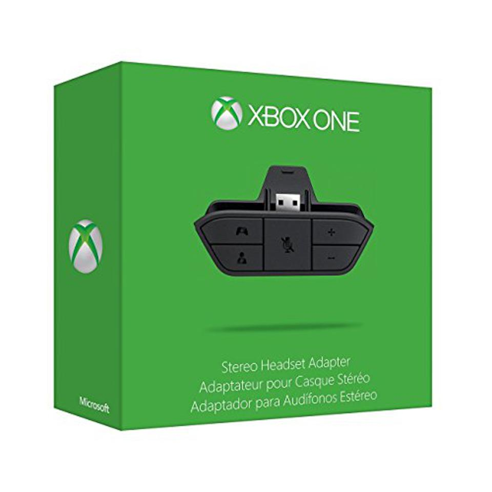 The Xbox One Stereo Headset Adapter retail box.