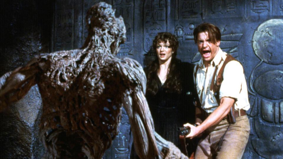 THE MUMMY, Rachel Weisz, Brendan Fraser, 1999