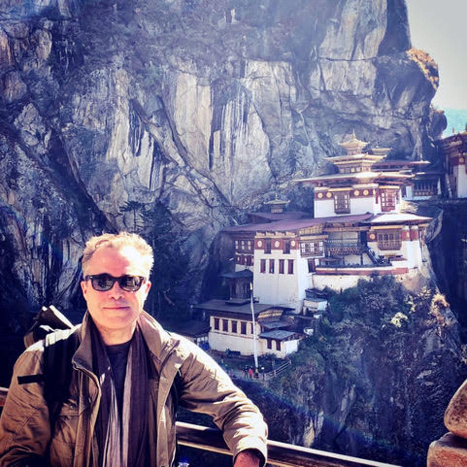 Hardy at Tiger's Nest, Bhutan