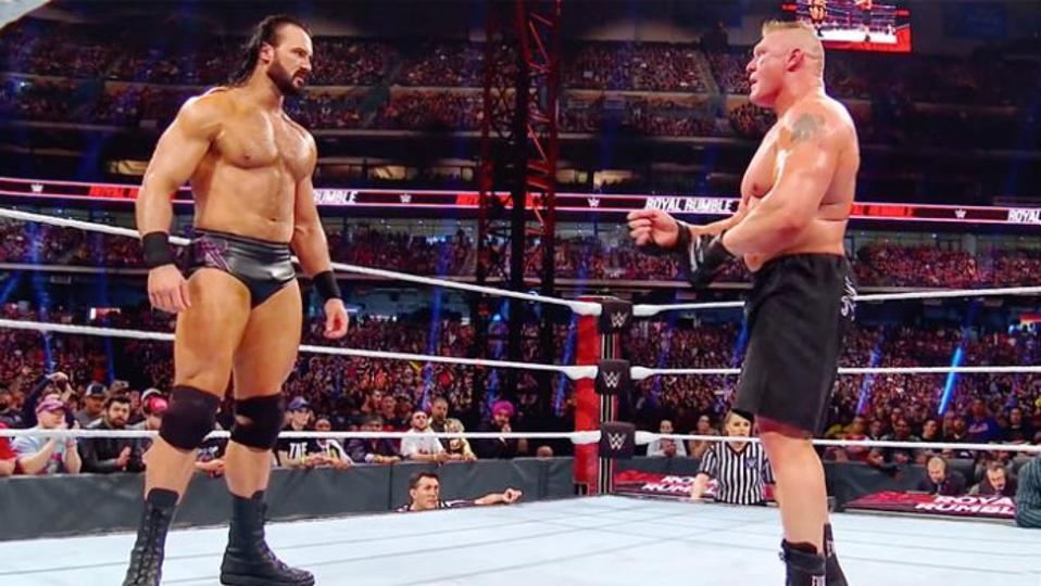 WWE Brock Lesnar Drew McIntyre WrestleMania 36 Coronavirus COVID-19