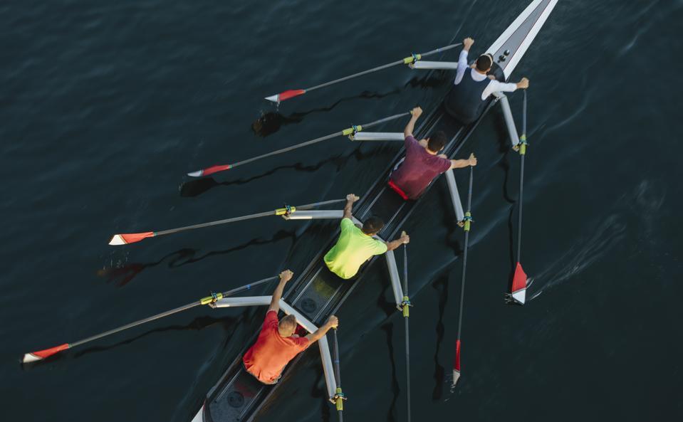rowing inthe same
