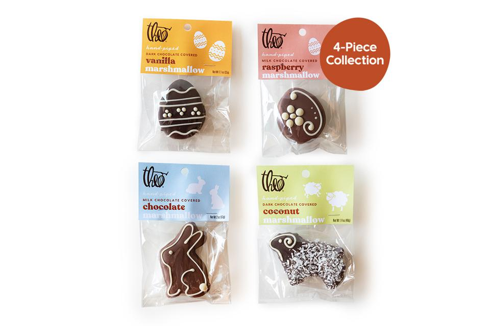 Theo Chocolate Easter Marshmallow Gifts Cacao Eggs Bunnies Sheep Gourmet Bean-to-bar