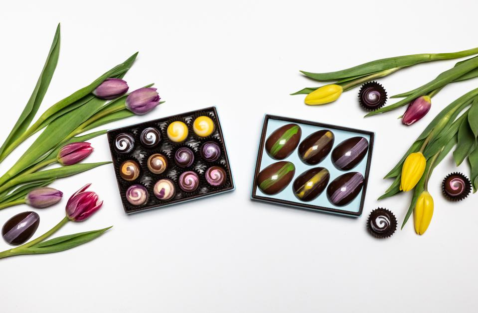 French Broad Chocolate Spring Bonbons Cacao Bean-to-Bar Gift Gifts Easter Floral Asheville