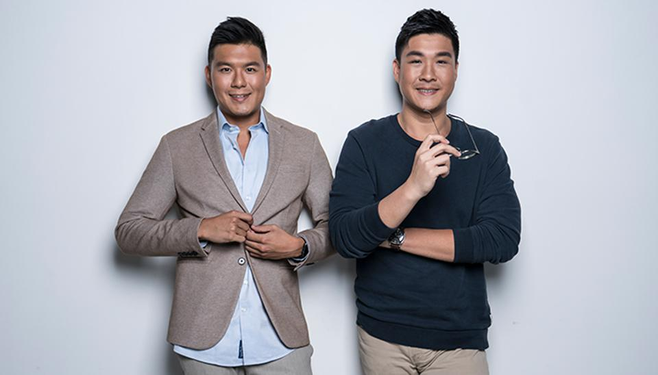 Christopher Hwang (left) and Jonathan Shen rode the craze for salted egg. Demand for their first chips was so high that they imposed a daily limit of five bags per customer.