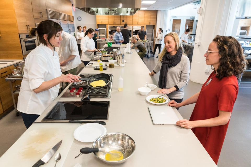 Chefs discuss culinary techniques in America's Test Kitchen.