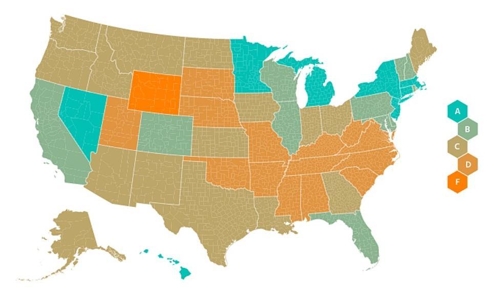 "America Has A ""C"" Grade In Following Coronavirus Guidelines"