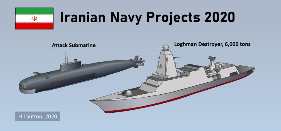 Iranian Indigenous Attack submarine and Loghman class Destroyer