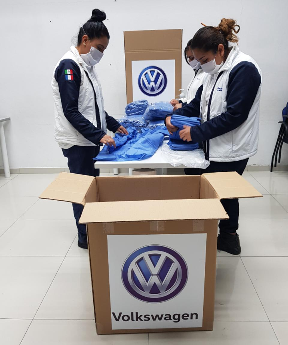 VW and supplier Faurecia are now producing Personal Protective Equipment (PPE).