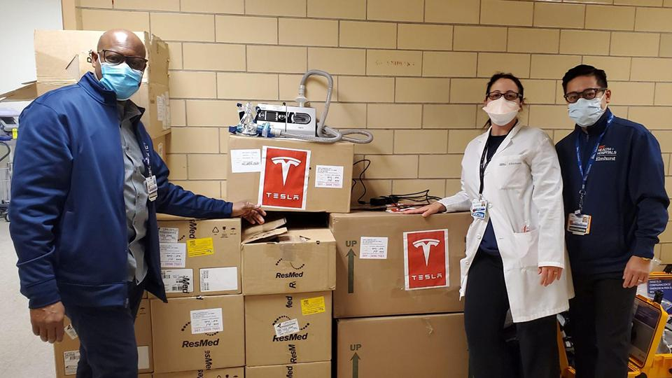 Health Officials Say 'Ventilators' Donated By Tesla Are Wrong Type ...