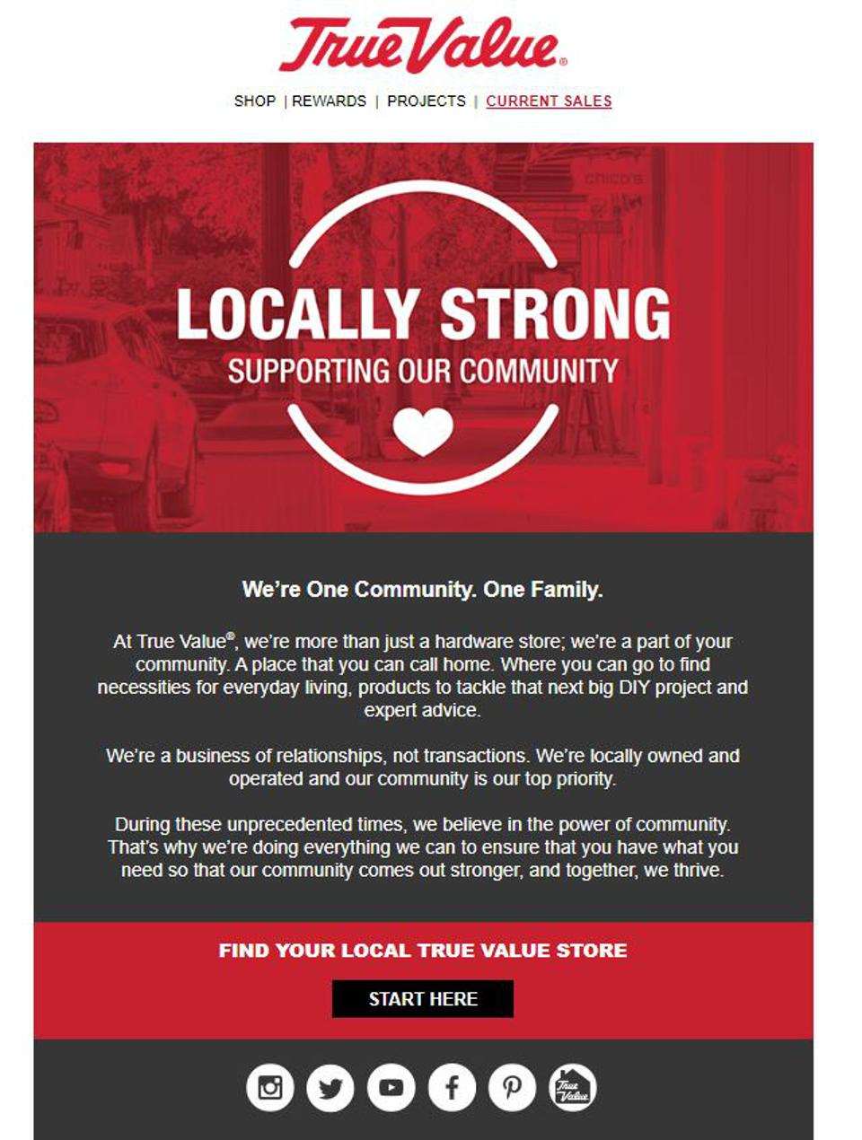 Locally Strong Email