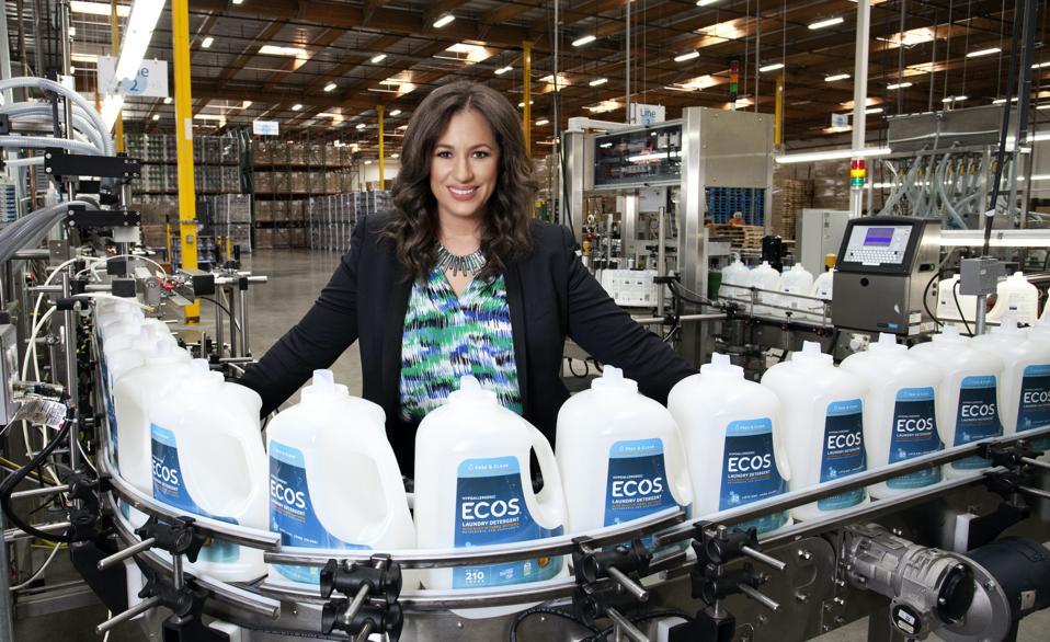 Kelly Vlahakis-Hanks at the Ecos factory.