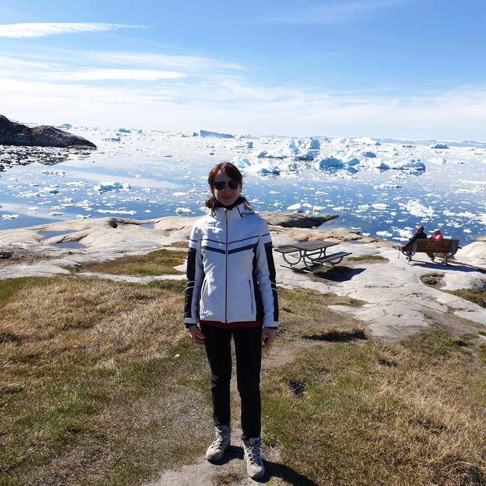 Gwenaëlle Avice-Huet in Greenland.
