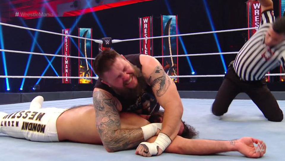 WWE WrestleMania 36: Kevin Owens pins Seth Rollins