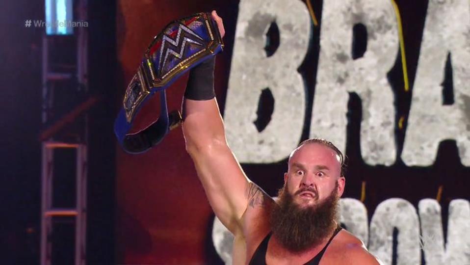 Braun Strowman Goldberg WrestleMania 36 Results