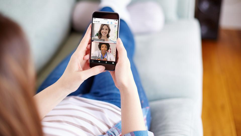 Amwell's technology allows customers to virtually visit doctors.
