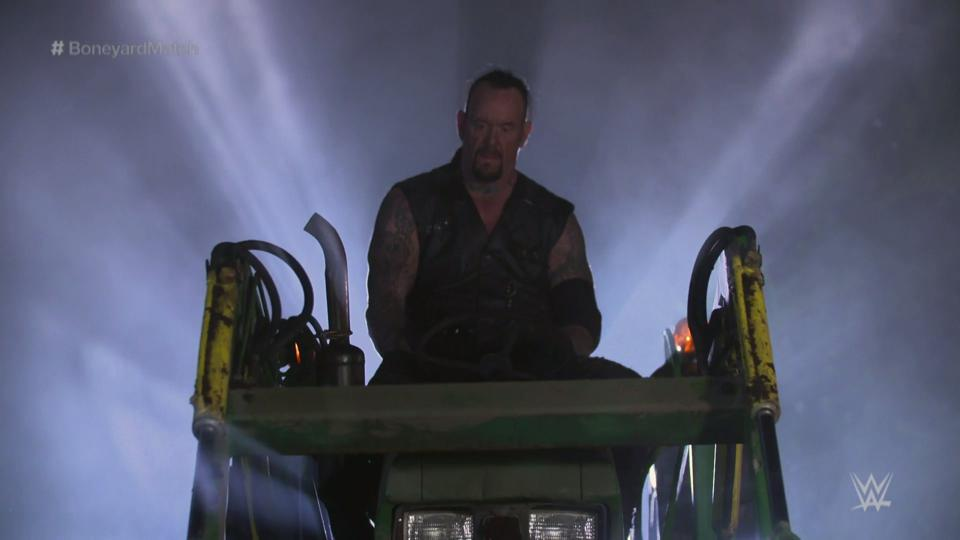 WWE WrestleMania 36: The Undertaker stares at AJ Styles