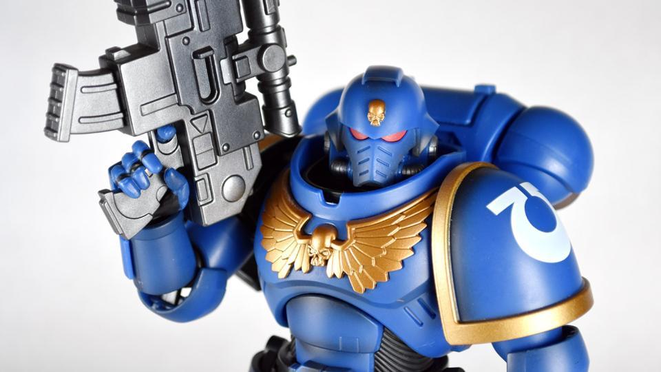 "Warhammer 40k Bandai 8/"" Ultramarines Primaris Intercessor Action Figure Sealed"