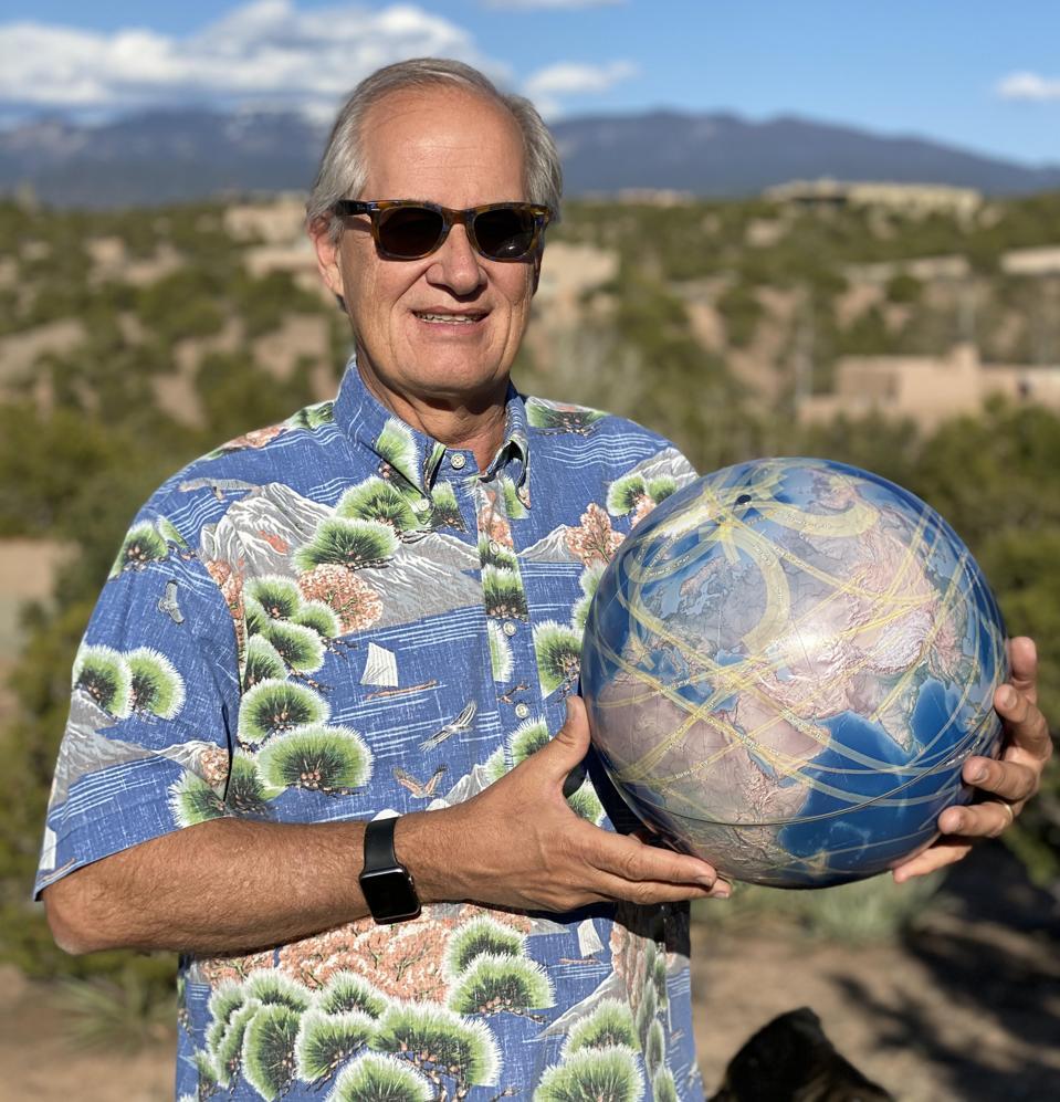 Solar Eclipse Globe creator Michael Zeiler.