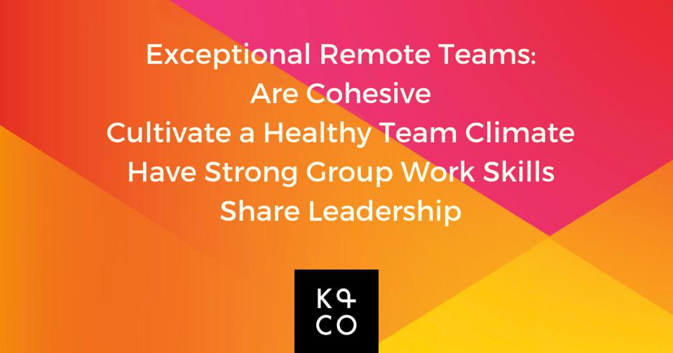 """Leading High Performing Remote Teams: Your """"Top Four"""" Checklist"""