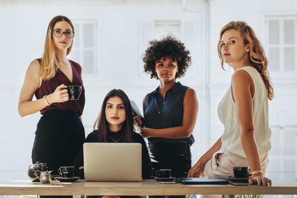 Female startup business team