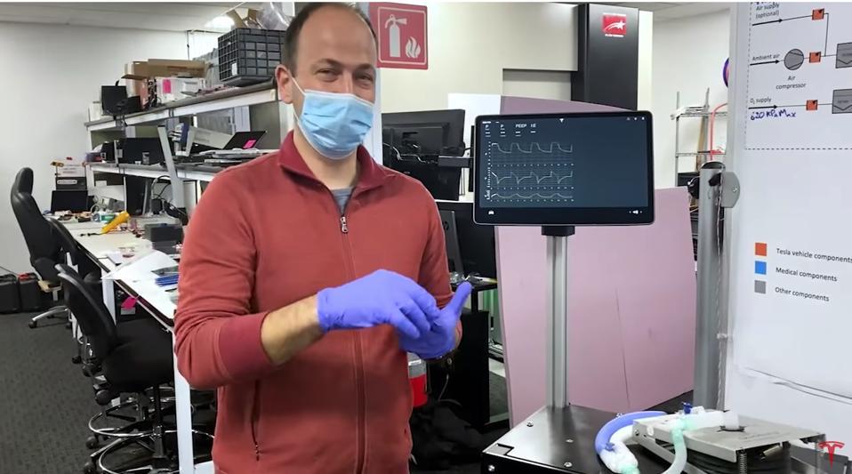 Tesla coronavirus ventilator