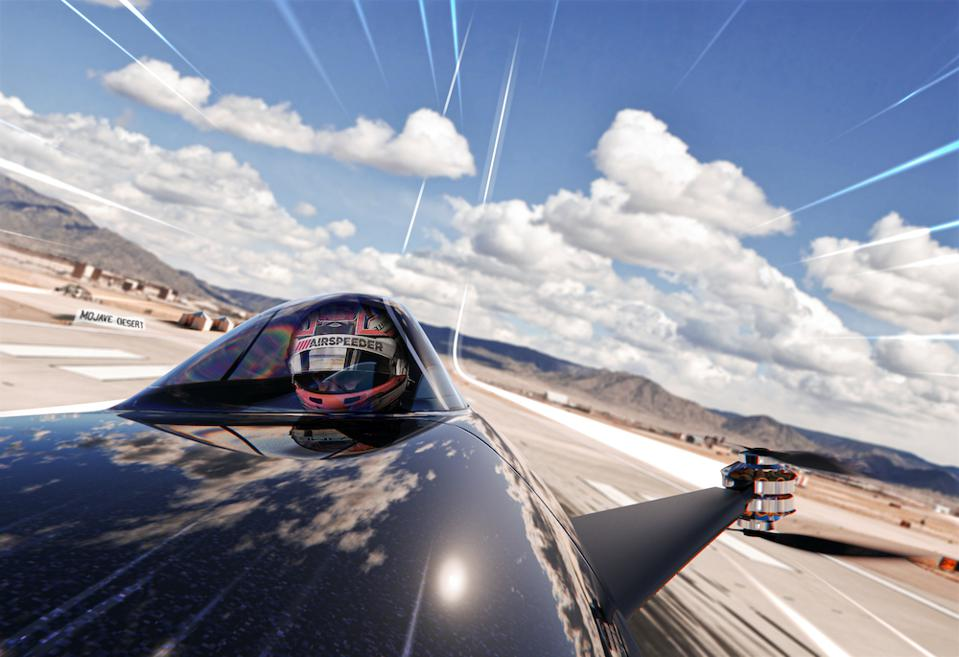 Alauda's Airspeeder is a flying electric race car