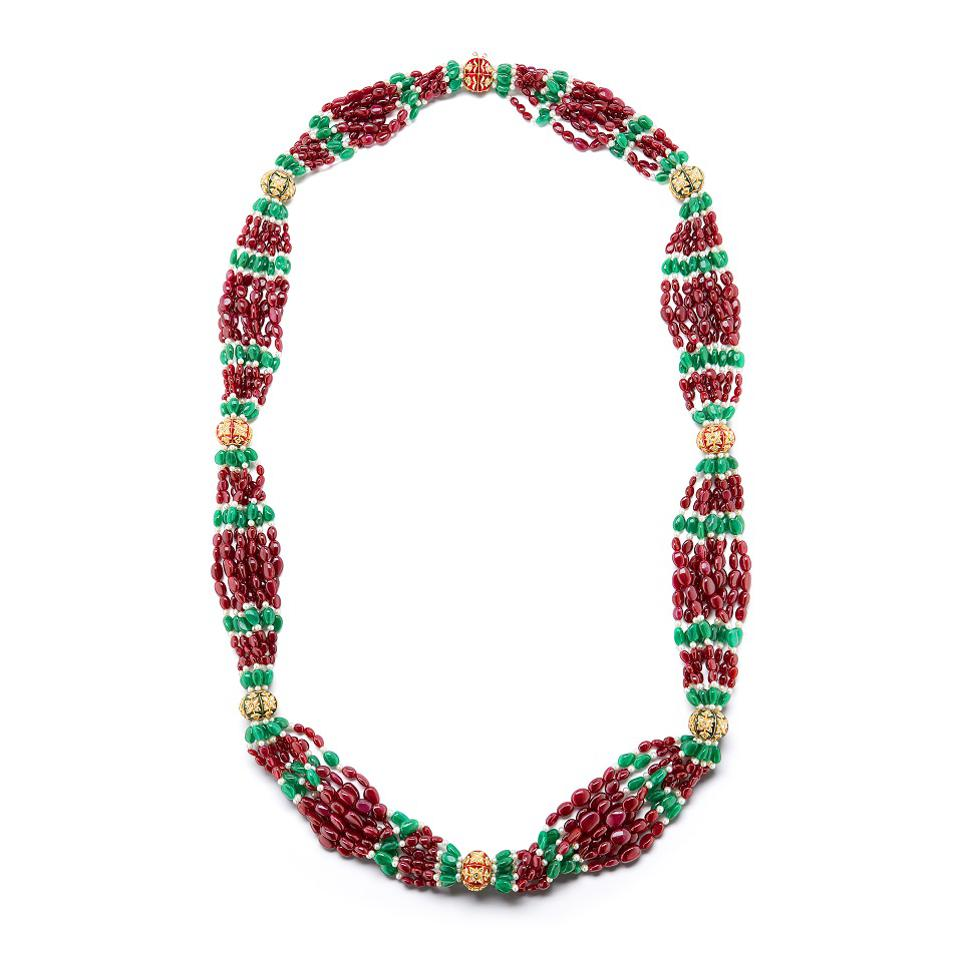 The second of two necklaces made in the same style of the iconic worn by Marella Agnelli