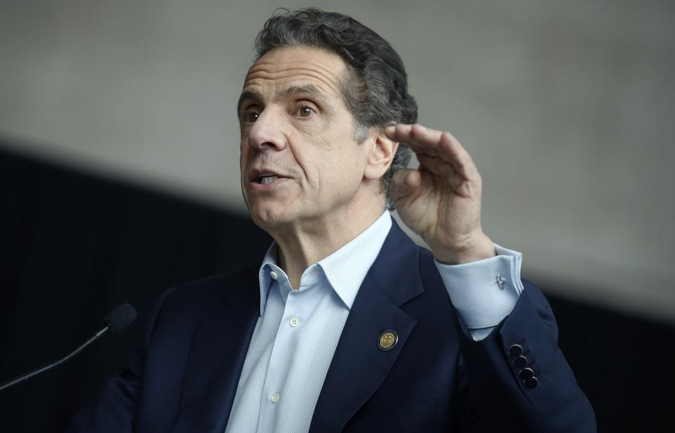 New York State Governor Andrew Cuomo Opens Emergency Hospital