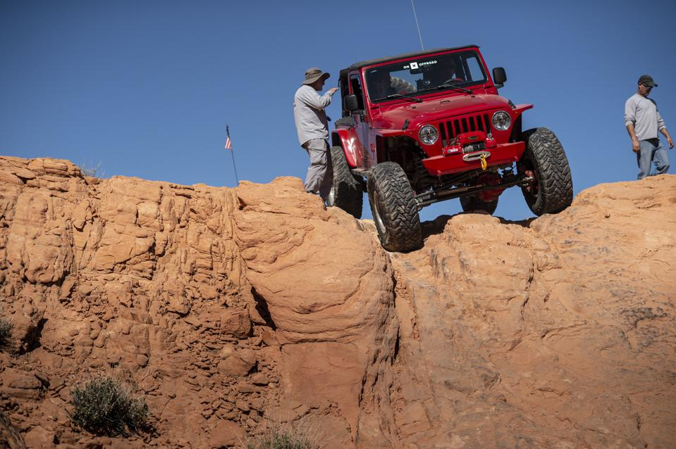 Jeep Logandale trails in Valley of Fire State Park Nevada