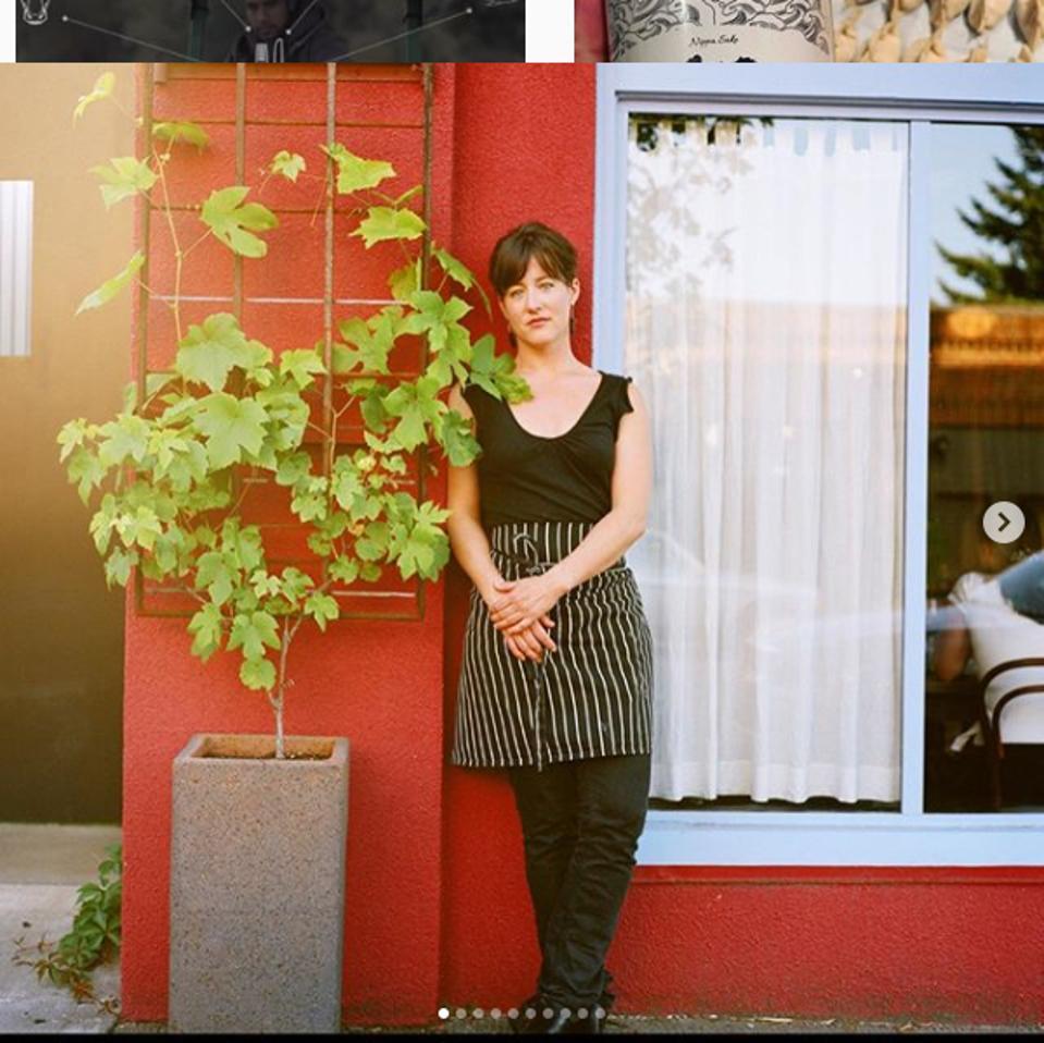 Naomi Pomeroy stands outside her celebrated restaurant Beast, in Portland, Oregon.