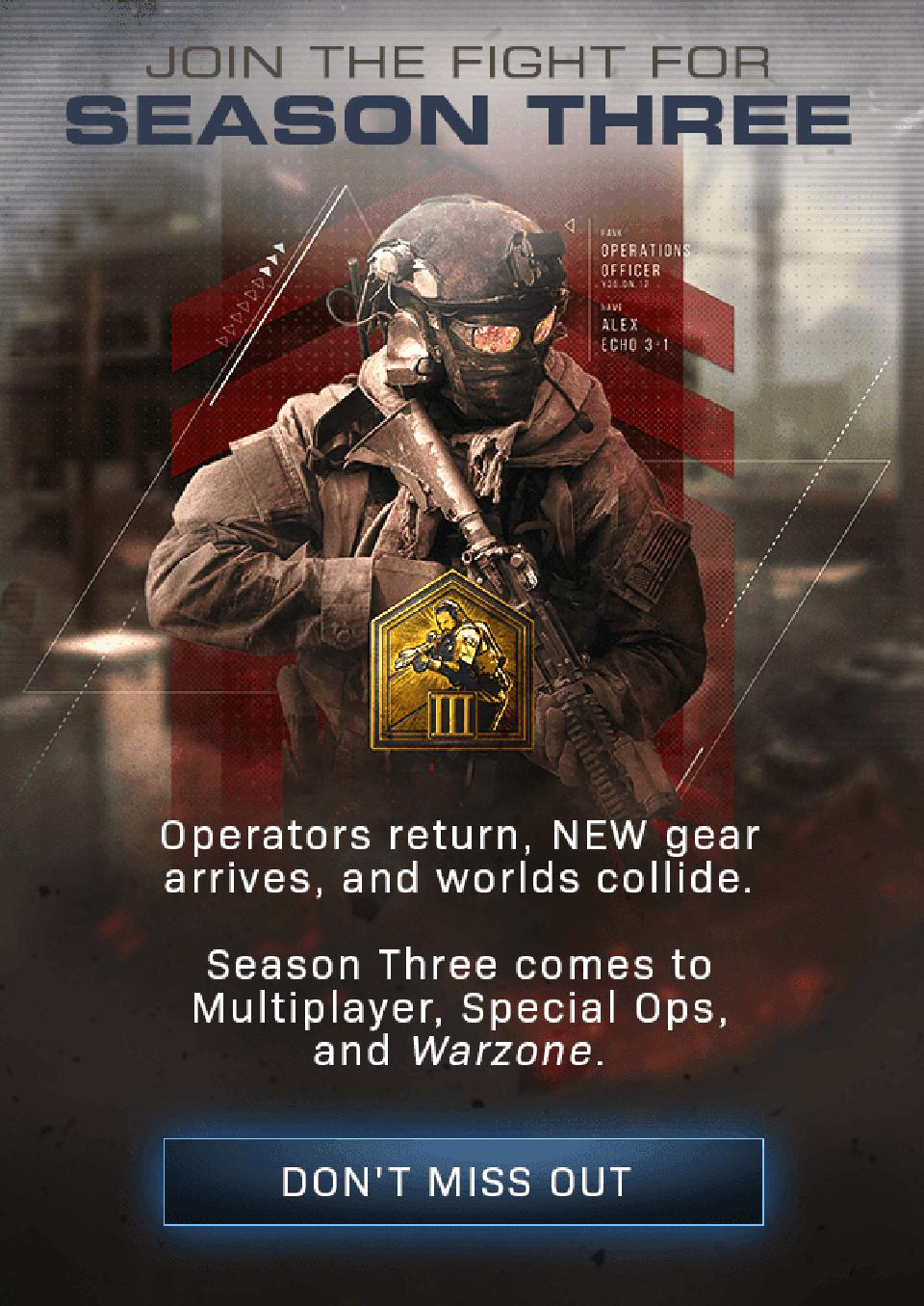 Alex Modern Warfare Season 3