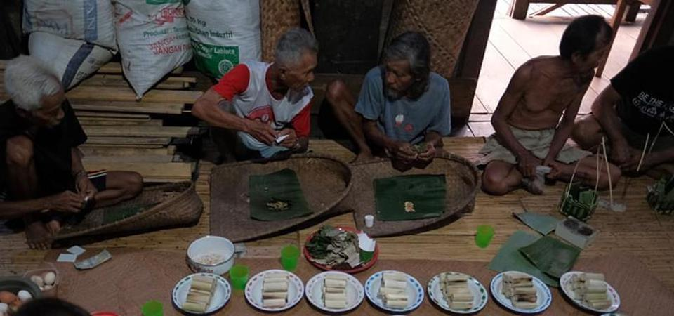A feast at the Sui Utik Long House in the Ibanic community in West Kalimantan, Indonesia.