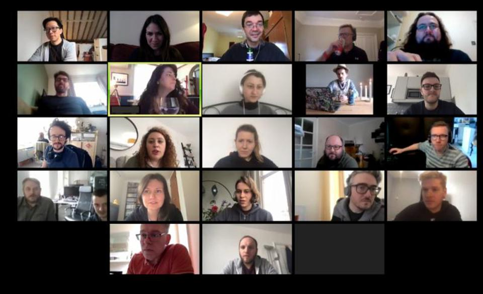 Digital workplace Claromentis hosts team video call during coronavirus