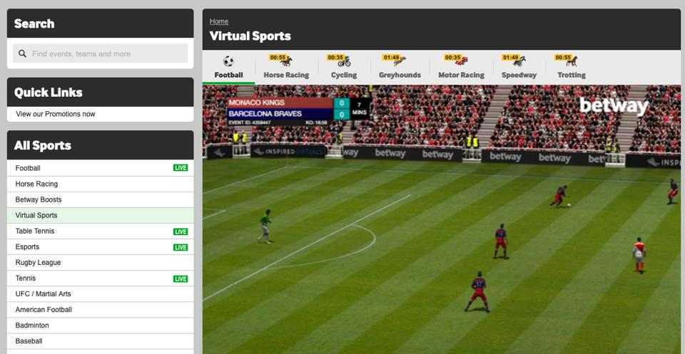 Betway virtual football