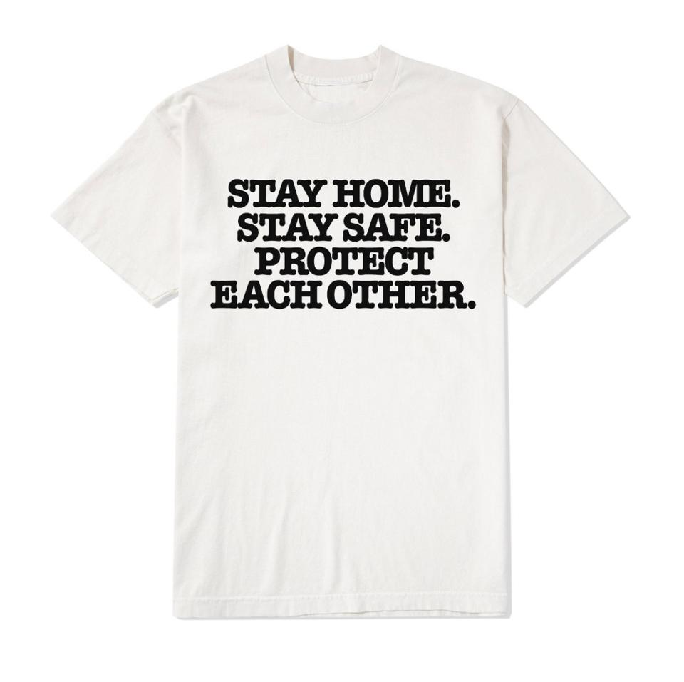 The front of the t-shirt that Harry Styles has released with proceeds donated to the COVID-19 Solidarity Response Fund for UN Foundation's World Health Organization.