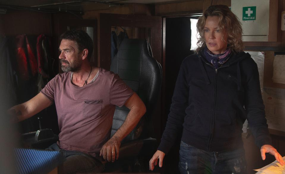 Dougray Scott and Connie Nielsen star in ″SEA FEVER.″