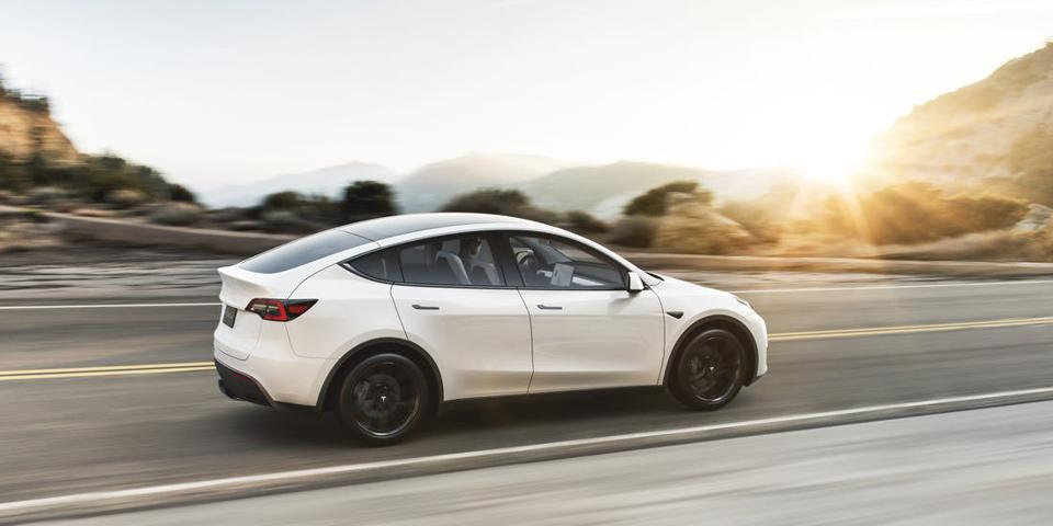 Tesla Model Y metal tailgate extends into bumper area making it susceptible to denting in minor parking lot impacts