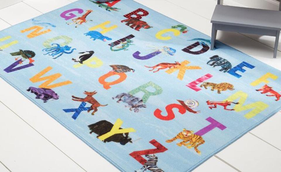 A plush rug is helpful for the youngest homeschool students.