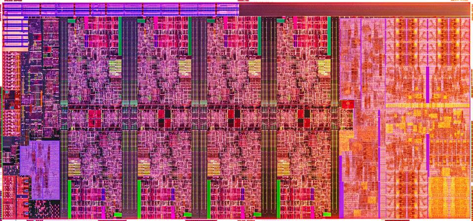 Intel die photo of Comet Lake-H