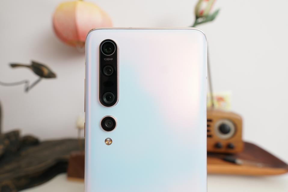 The Xiaomi Mi 10 Pro's quad camera system.