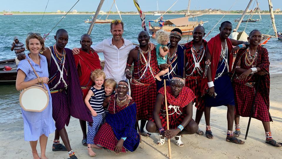 Sara Banks on a sunset cruise in Kenya