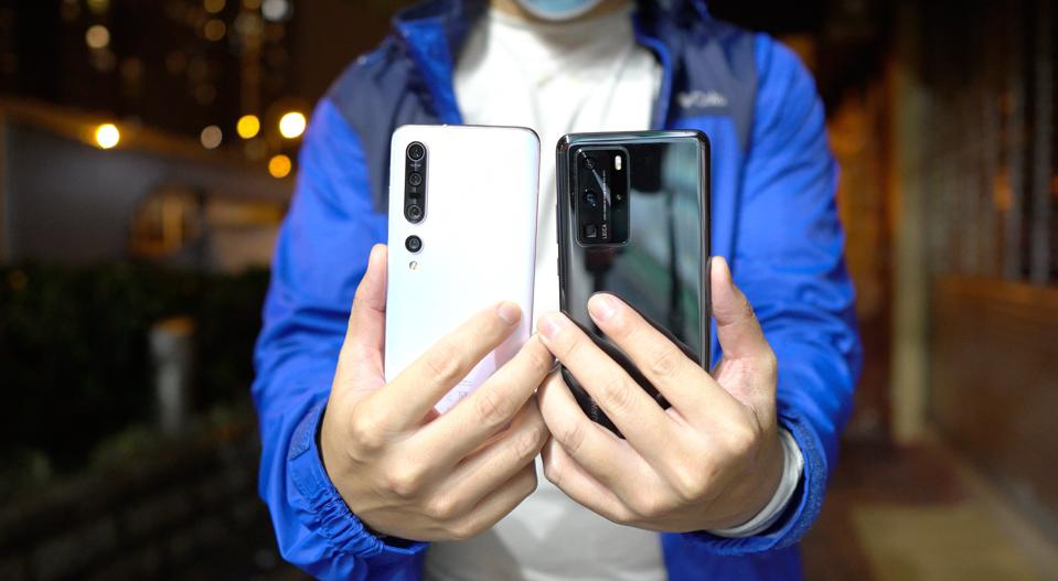 The Xiaomi Mi 10 Pro and the Huawei P40 Pro.