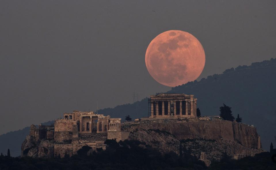 Greece Supermoon Acropolis