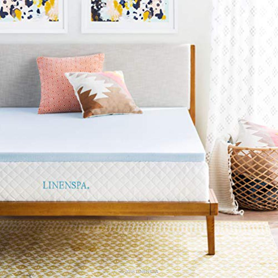 Linenspa Gel Infused Memory Foam Topper Linenspa 2 Inch Gel Infused Memory Foam Mattress Topper