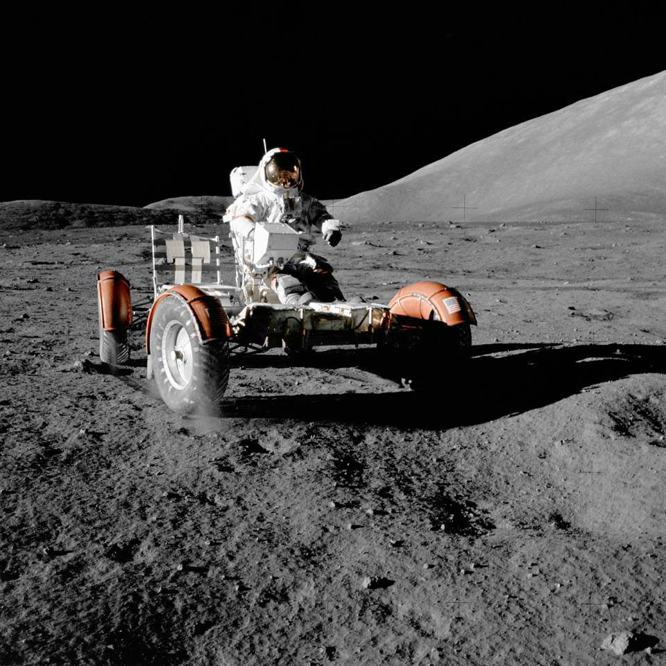 These are the rovers Apollo astronauts used in the 1970s for moon exploration.