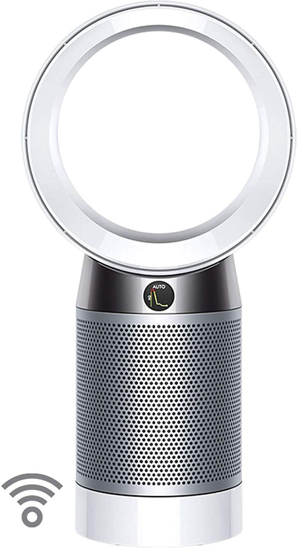 Dyson Pure Cool, DP04-HEPA Air Purifier and Fan WiFi-Enabled, Large Rooms, Automatically Removes Allergens, Pollutants, Dust, Mold, VOCs, White/Silver